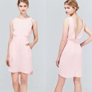 Aritizia Wilfred Leila Low Back Pink Mini Dress 4